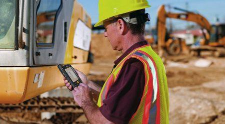 MDE-Geräter im Außendienst