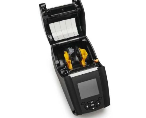 Zebra ZQ600 Mobildrucker mit geöffnetem Gehäusedeckel