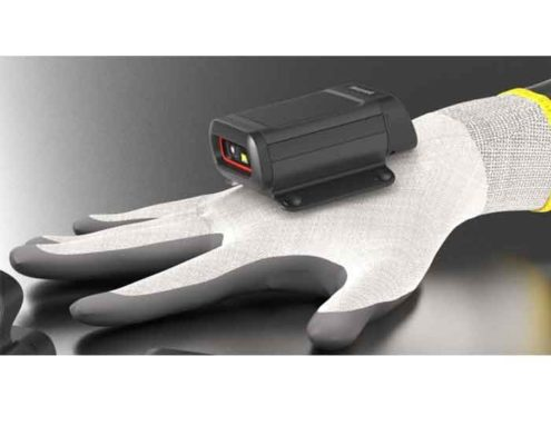 Handschuhscanner für freihändiges Arbeiten in der Lagerlogistik