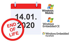Windows Mobile, Windows Embedded CE und Windows Embedded Handheld gehen ENd of Life