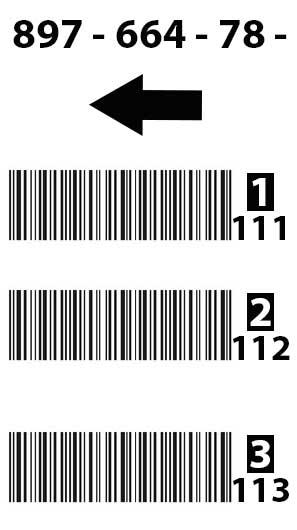 Man-Down-Etiketten