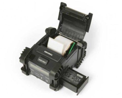 Toshiba B-EP2DL Innensansicht, mobiler Etikettendrucker