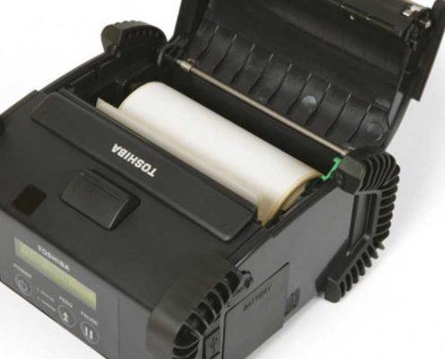 Toshiba B-EP4DL Innensansicht, mobiler Etikettendrucker