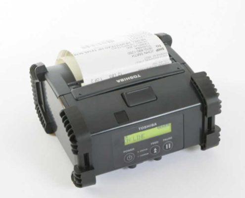 Toshiba B-EP4DL mit Druck-mobiler Etikettendrucker