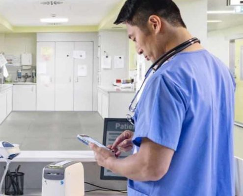 Mobile Datenerfassung im Krankenhaus mit dem Zebra TC52HC