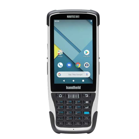 Handheld-Nautiz X41 Mobilcomputer mit Touchdisplay und Tastatur