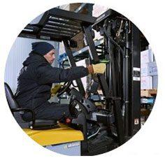 Flexrange Scanner von Honeywell im Lagerbereich